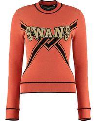 Off-White c/o Virgil Abloh Long-sleeved Crew-neck Sweater - Orange