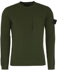 Stone Island Shadow Project - Cotton Crew-neck Sweater - Green