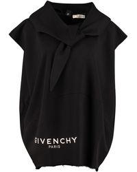 Givenchy Felpa smanicata in cotone - Nero
