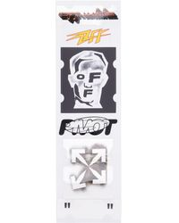 Off-White c/o Virgil Abloh - Stickers Set Masked Face - Lyst