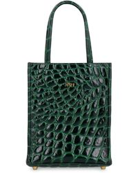 N°21 Mini Leather Tote Bag - Green