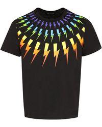 Neil Barrett Printed Short Sleeve T-shirt - Black