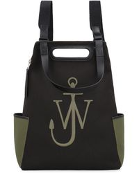 JW Anderson Anchor Canvas Backpack - Black