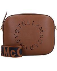 Stella McCartney Camera bag Stella Logo - Marrone