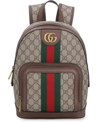 Gucci Ophidia GG Supreme Fabric Backpack - Natural