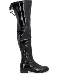 Stuart Weitzman Lowland Vinyl Boots - Black