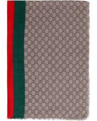 Gucci Sciarpa in lana GG - Neutro