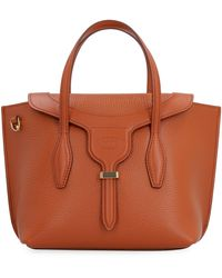 Tod's Joy Pebbled Leather Handbag - Brown