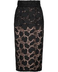 N°21 Lace Pencil Skirt - Black
