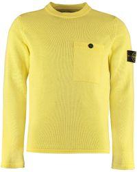 Stone Island Long-sleeved Crew-neck Jumper - Yellow