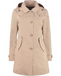 Woolrich Charlotte Hooded Trench Coat - Natural
