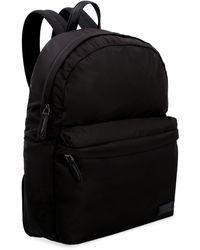 Ferragamo Logo Detail Nylon Backpack - Black
