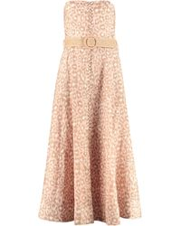 Zimmermann Abito bustier Carnaby - Rosa