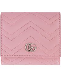 Gucci GG Marmont Leather Wallet - Pink