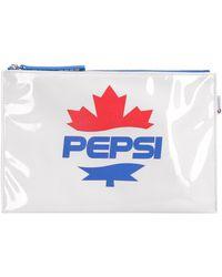 DSquared² X Pepsi Pvc Flat Pouch - White