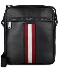 Bally - Holm Leather Messenger Bag - Lyst
