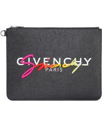 Givenchy Logo Detail Flat Pouch - Black