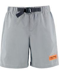 Heron Preston Reflective Belted Logo Shorts - Grey