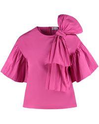 RED Valentino - Blusa con fiocco - Lyst