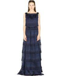 Alberta Ferretti Organza Maxi Dress - Blue