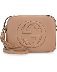 Gucci Soho Leather Cross Body Bag - Natural