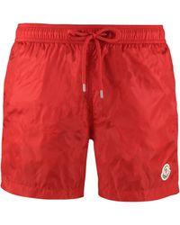 Moncler Logo-patch Swim Shorts - Red