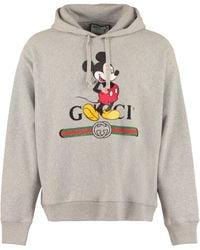 Gucci Felpa con cappuccio Disney x - Grigio