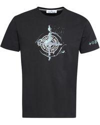 Stone Island Cotton Crew-neck T-shirt - Black