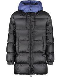 Add Hooded Nylon Down Jacket - Black