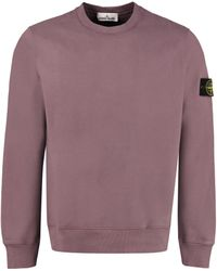 Stone Island Cotton Crew-neck Sweatshirt - Purple