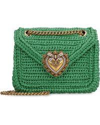 Dolce & Gabbana Devotion bag in rafia - Verde