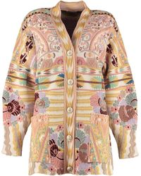 Etro Embroidered Wool-knit Cardigan - Multicolour