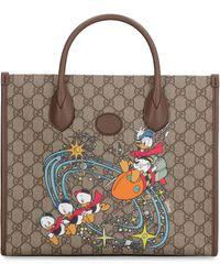 Gucci Tote bag in tessuto GG Supreme - Donald Duck Disney x - Neutro