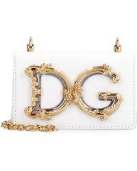 Dolce & Gabbana Micro bag DG Girls in pelle - Bianco