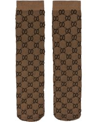 Gucci GG Socks - Brown