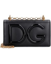 Dolce & Gabbana Porta cellulare DG Girls in pelle - Nero