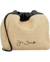 Jil Sander Raffia Shoulder Bag - Natural