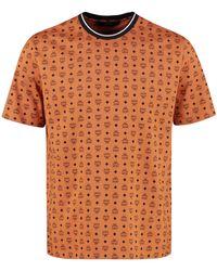 MCM T-shirt in cotone con stampa - Marrone