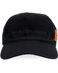 Heron Preston Embroidered Baseball Cap - Black