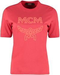 MCM T-shirt in cotone con logo - Rosso