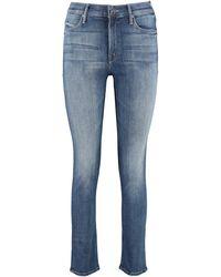 Mother Jeans slim fit Dazzler - Blu