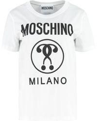 Moschino T-shirt girocollo in cotone - Bianco