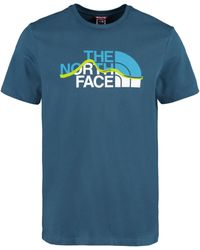 The North Face Logo Cotton T-shirt - Blue