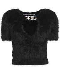 Alexander Wang Chain Detail Short Sleeve Pullover - Black