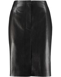 Nanushka Regan Faux Leather Skirt - Black