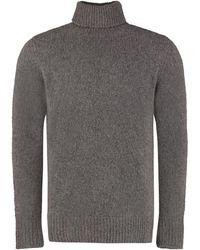 Department 5 Cashmere Blend Turtleneck Jumper - Grey