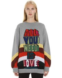 Stella McCartney All You Need Is Love Jumper - Grey