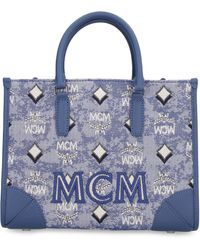 MCM Borsa a mano in tela - Blu
