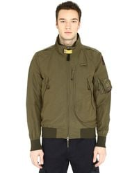 Parajumpers Fire Spring Nylon Bomber Jacket - Green