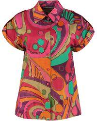 Alberta Ferretti - Printed Cotton Shirt - Lyst